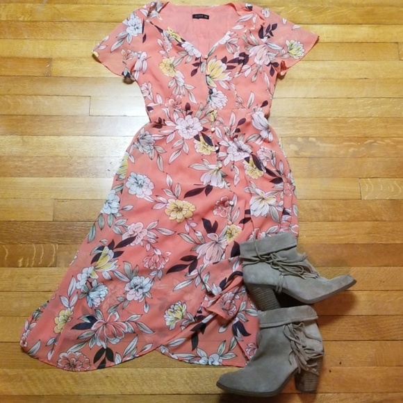 cf70edd7ef30 Cotton On Dresses | Coral Floral Dress Nwot | Poshmark